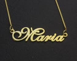 gold name plate necklace nameplate necklace etsy
