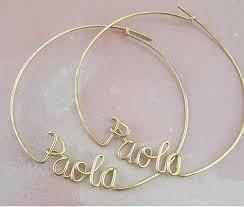 personalized name earrings hoop earrings with custom names personalized name jewelry custom