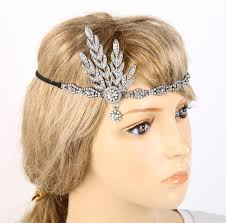 gatsby headband great gatsby headband bridal hair accessories rhinestone beaded