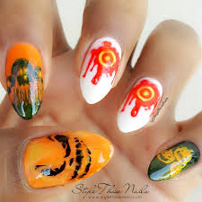 style those nails halloween nailart stamping design