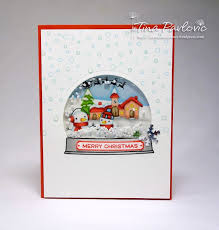 113 best cards snow globes images on pinterest