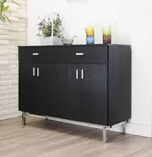 Black Kitchen Storage Cabinet Amazon Com Iohomes Knox 2 Doors Buffet Black Buffets U0026 Sideboards