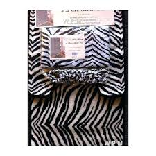 Zebra Bath Rug Animal Bathroom Accessories Bath Accessories Set Black Zebra