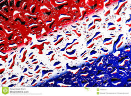 Blue White Red White Blue Flag Red White Blue On Water Droplet Color Background Stock Image