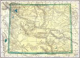 Wy Map Wyoming Archives U2013 Access Genealogy