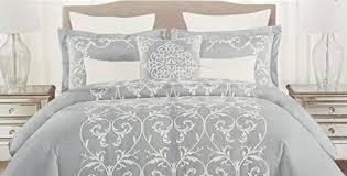 Embroidered Duvet Cover Sets Tahari Bedding 3 Piece Full Queen Duvet Cover Set White
