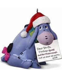 here s a great price on hallmark disney eeyore santa keepsake
