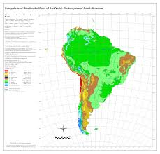 Regions Of South America Map by Bioclimatic U0026 Biogeographic Maps