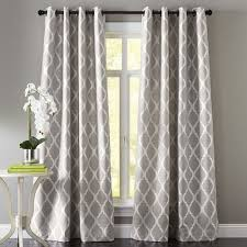 Moorish Tile Curtains Moorish Tile Gray Grommet Curtain Pier 1 Imports