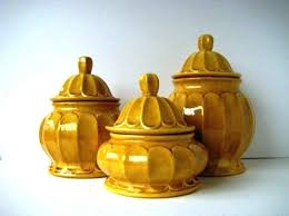 vintage style kitchen canisters yellow canister set great style kitchen canisters retro in