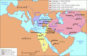 middle east map medina grolier atlas