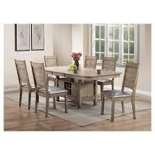 Ramona Dining Table Rustic Oak Acme  Target - Rustic oak kitchen table