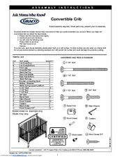 Graco Shelby Classic Convertible Crib Graco 3601647 062 Shelby Classic Convertible Crib Manuals
