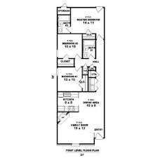 narrow floor plans skillful 2 house plans narrow houses floor plans