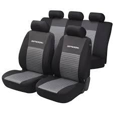 housses de sièges gris sport set 14 pièces achat vente