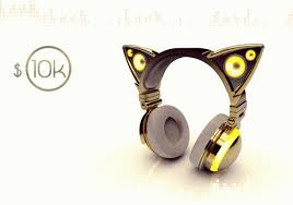 light up cat headphones axent wear cat ear headphones unleashes your inner feline slashgear