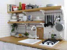 rangement de cuisine planche et barre de suspension pour rangement cuisine