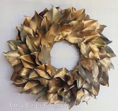 Magnolia Leaf Wreath Holiday Collection Lacquered Magnolia Leaf Wreaths Fall Wreath