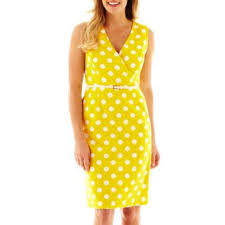Jcpenney Wedding Guest Dresses Alyx Sleeveless Sheath Dress Found At Jcpenney 30 00 Yellow