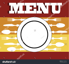 Template For Kitchen Design by Menu Cutlery Vector Illustrationkitchen Design Background Stock