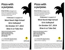 California Pizza Kitchen Rewards by West Ranch High Girls Volleyball Upcoming Events