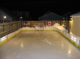 backyard hockey rink design and ideas of house