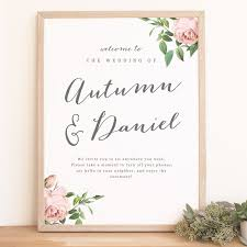 wedding welcome sign template diy wedding welcome poster template printable welcome sign