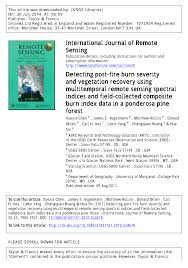 Usgs Wildfire Data by Detecting Post Fire Burn Severity And Vegetation Recovery Using