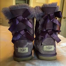 light purple bailey bow uggs ugg shoes purple bailey bow s size 4 womens size 6 poshmark