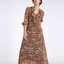 maxi dresses online leopard ruffle maxi buy leopard print dresses online leopard