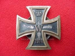 wwi imperial german iron cross 1st class 1914 pillow back a w
