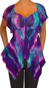 purple blouse plus size funfash plus size purple empire waist v neck a line top shirt ma