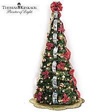 collapsible christmas tree kinkade pre lit pull up christmas tree wondrous winter