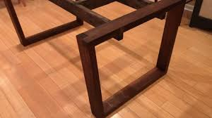 walnut dining table base walnut dining table part 1 the legs and base youtube