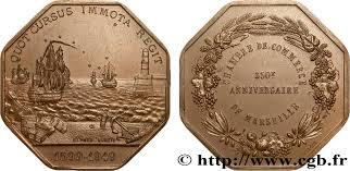 chambre de commerce et d industrie de marseille provence jetons et médailles du xixe s jeton octogonal cu 34