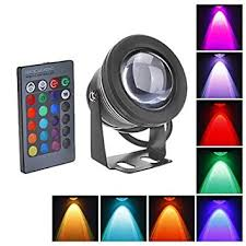 rc 10w waterproof rgb led color changing flood light 12v ac dc