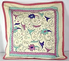 nakshi kantha handmade nakshi kantha cotton cushion cover pillow