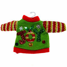 ugly christmas sweater ornament set of 3