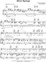 wedding dress piano sheet silver springs by fleetwood mac piano sheet my favorite
