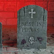 halloween headstones tombstone decoration set 6 pack