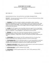 army sop template best template idea in army sop template best