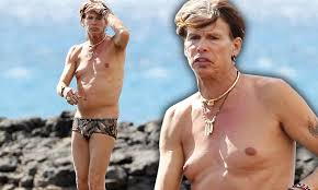 Man Boobs Meme - steven tyler reveals his moobs as he goes shirtless on hawaiian