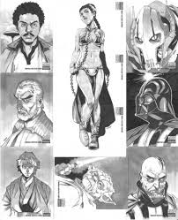 star wars manga sketch cards by 2ngaw on deviantart