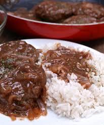 southern hamburger steak u0026 onion gravy divas can cook
