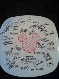 autograph plate a memory plate for a boys party at www slapndash signature