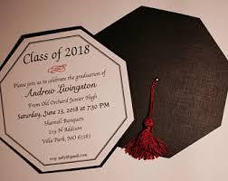 graduation cap invitations graduation cap invitation or announcement highschool