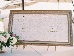 wedding table assignment board west coast wedding dj montage wedding laguna beach
