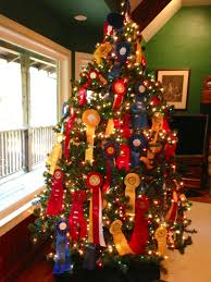 using horse show ribbons to decorate a christmas tree christmas