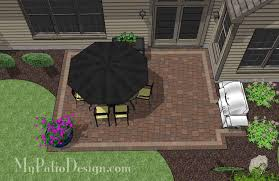 Design Patio Diy Rectangular Patio Design Downloadable Patio Plan