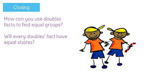 doubles fact identify quantities that can create equal groups by using doubles